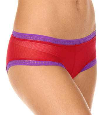 OnGossamer Color Contrast Mesh Low Rise Boyshort Panties