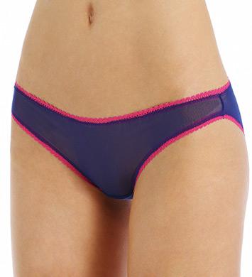 OnGossamer Color Contrast Mesh Low Rise Hip Bikini Panty