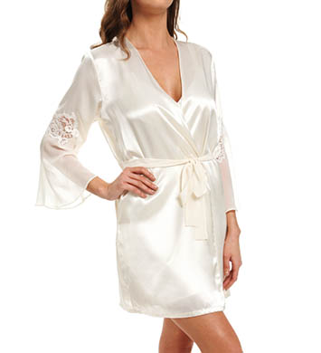 Oscar De La Renta Romantic Affair Charmeuse & Georgette Robe