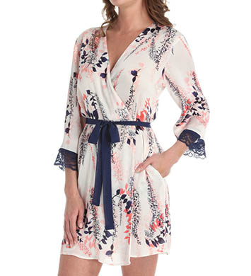 Oscar De La Renta Misty Shadow Short Robe
