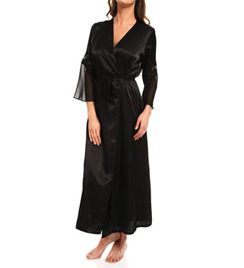 Oscar De La Renta Romantic Affair Charmeuse & Georgette Long Robe