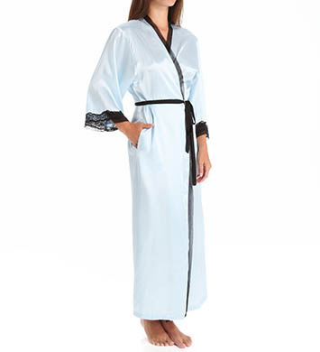 Oscar De La Renta Solid Charmeuse Long Robe