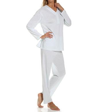 P-Jamas Leopard Print Jersey Pajama