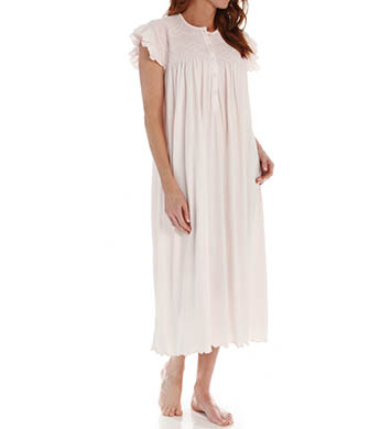 P-Jamas Daisy Smocked Cap Sleeve Nightgown