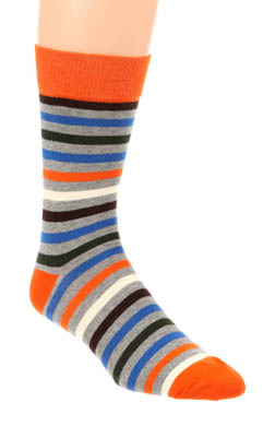 Pact All Over Duffle Bag Stripe Sock