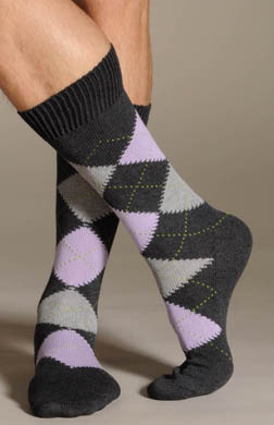 Pantherella Argyle Soft Cotton Casual Socks