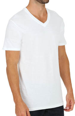 Perry Ellis Basics V-Neck T-Shirts - 3 Pack
