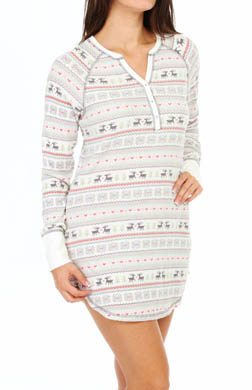 PJ Salvage Fair Isle Thermal Nightshirt