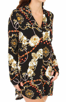 PJ Salvage Jewel Scarf Print Sleepshirt