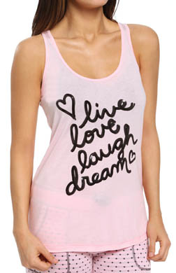 PJ Salvage Giftables Live Love Laugh Dream Sequin Tank