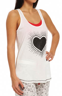 PJ Salvage Love Struck Black Heart Tank