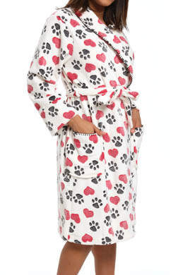 PJ Salvage Puppy Love Paws & Hearts Robe