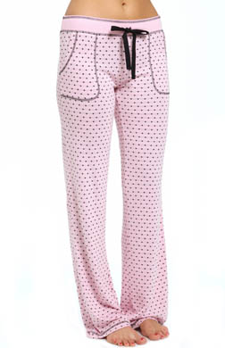 PJ Salvage Young at Heart Pink & Black Polka Dot Pant