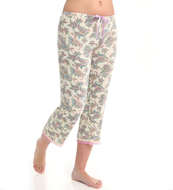 PJ Salvage Pastel Paisley Crop Pant