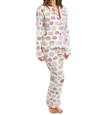 PJ Salvage Playful Prints Donut PJ Set