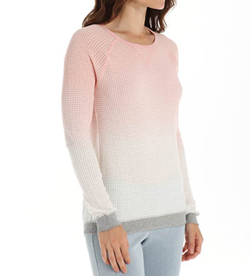 PJ Salvage Girly Skull Long Sleeve Ombre Thermal Top