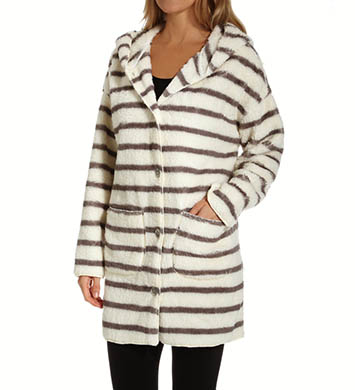 PJ Salvage Home Cozy Stripe Hooded Cardigan