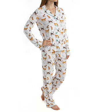 PJ Salvage Playful Prints Cats PJ Set