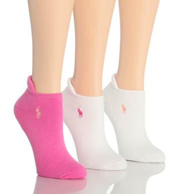 Polo Ralph Lauren Blue Label RL Sport Heel Tab Cushion Sole Sock - 3 Pair Pack