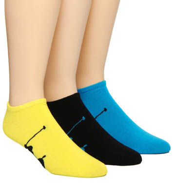 Polo Ralph Lauren Big Polo Player No Show Socks - 3 Pack