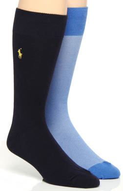 Polo Ralph Lauren Oxford Dress Socks - 2 Pack