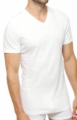 Polo Ralph Lauren Slim Fit Cotton V-Neck T-Shirts - 3 Pack