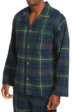 Polo Ralph Lauren Tartan Flannel Pajama Top