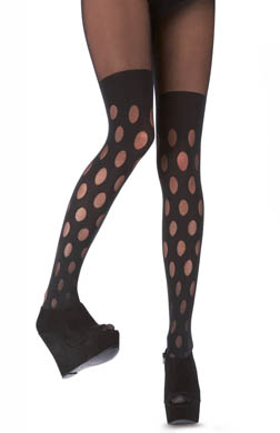 Pretty Polly House of Holland Reverse Dot Mock Hold Up Tights