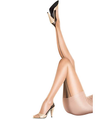 Pretty Polly 10 Denier Sheer Gloss Backseam Tights