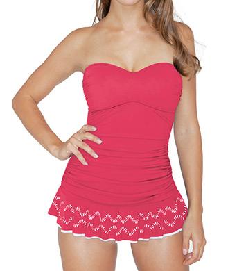 Profile by Gottex Tutti-Frutti Bandeau One Piece Swim Dress