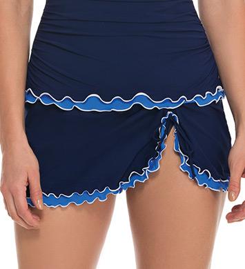 Profile by Gottex Blue Lagoon Skirted Swim Bottom