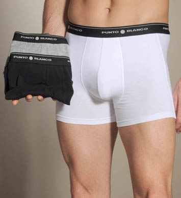 Punto Blanco Basix Tripack Boxer with Long Inseam - 3 Pack