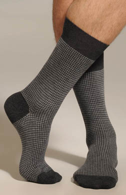 Punto Two Color Houndstooth Sock