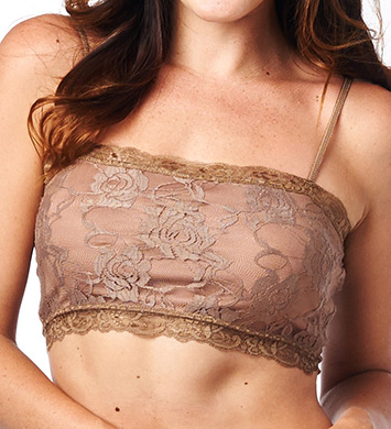 Pure Style Girlfriends Lace Camiflage Wire-Free Bandeau Bra
