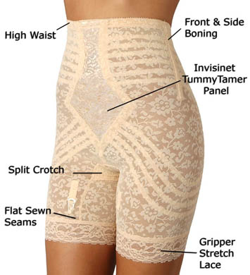 Rago High Waist Long Leg Shaper Girdle