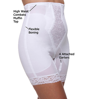 Rago High Waist Long Leg Shaper with Side Zipper