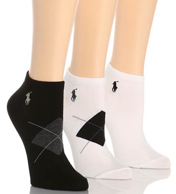 Ralph Lauren Blue Label RL Sport Argyle Ped Sock 3 Pair Pack