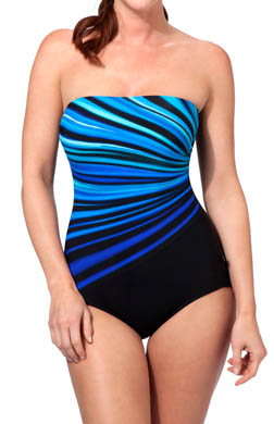 Reebok Vanishing Light Bandeau One Piece Swimsuit