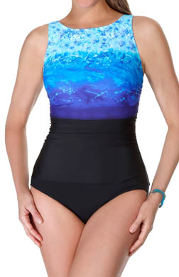 Reebok Surftastic High Neck One Piece Swimsuit