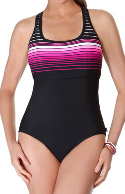 Reebok Swimsta Racerback One Piece Swimsuit