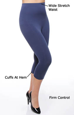 Rhonda Shear Ahh Smooth Seamless Capri Legging