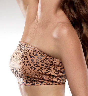 Rhonda Shear Camera Animal Bandeau Bra