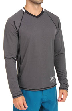 RVCA Fraction L/S V-Neck T-Shirt