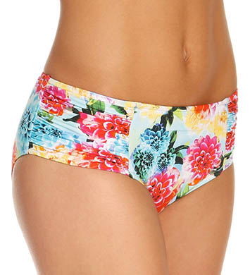 Seafolly Geisha Ruched Side Retro Swim Bottom