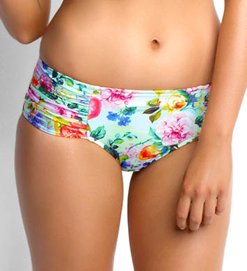 Seafolly Summer Garden Ruched Side Retro Swim Bottom