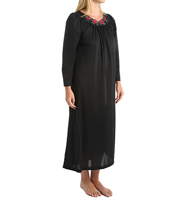 Shadowline Petals 53 Inch Long Sleeve Gown