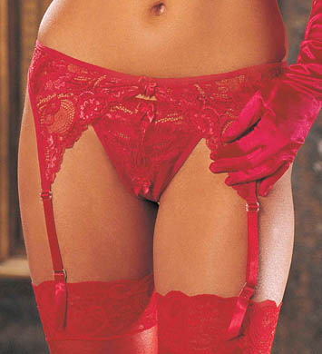 Shirley of Hollywood Plus Size Lace Garter Belt