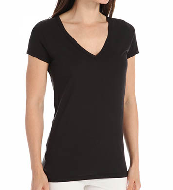 Skin Superfine Pima Jersey V-Neck Easy Tee