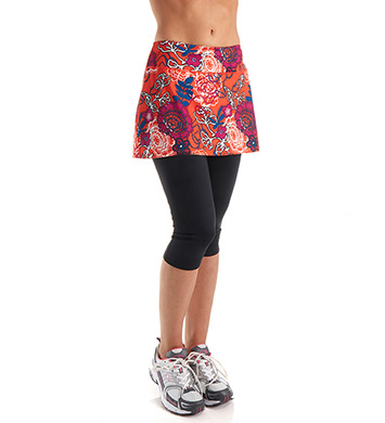 Skirt Sports Lotta Breeze Capri with Attached Skirt