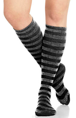 SPANX Socks Rock Coil Weave Striped Sweater Socks